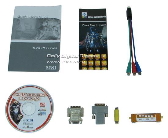 Комплектация MSI HD 4870
