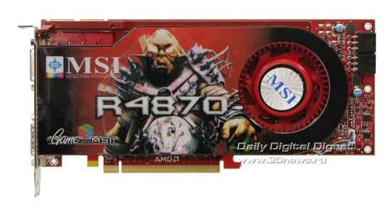 Вид спереди на MSI HD 4870