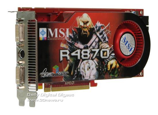 Вид сбоку на MSI HD 4870