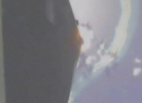 Вид с бортовой камеры Falcon 1 до аварии