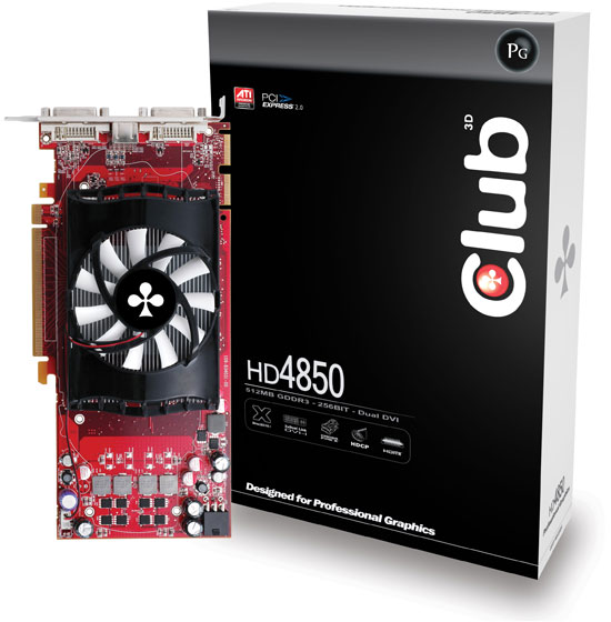 Club 3D HD 4850 512MB GDDR3