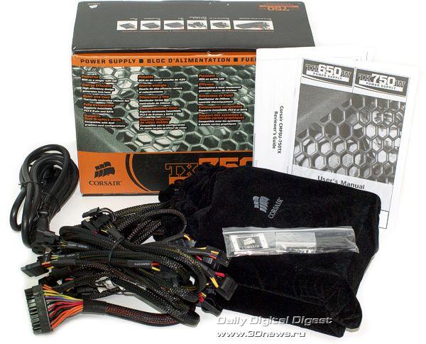 Комплект поставки Corsair TX750W