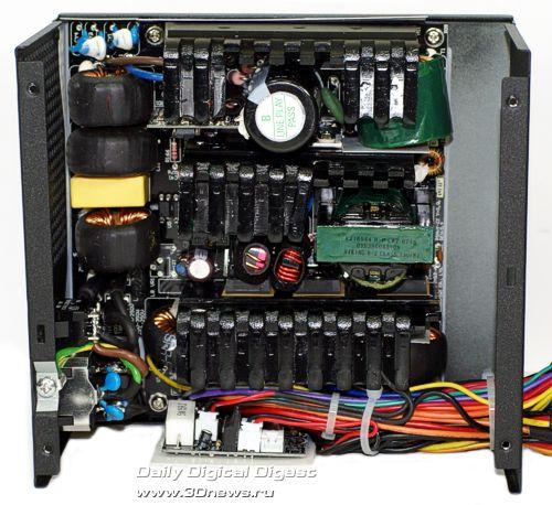 Внутреннее строение блока питания Corsair TX750W