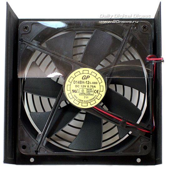 Конструкция обдувается 140-мм бесщеточным вентилятором D14BH-12 на двух шариковых подшипниках производства компании...