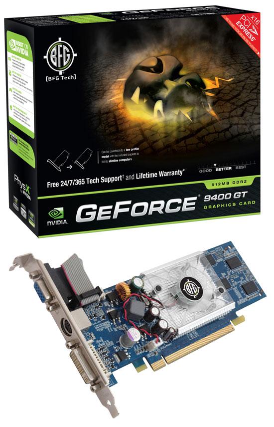 BFG NVIDIA GeForce 9400 GT 512MB DDR2