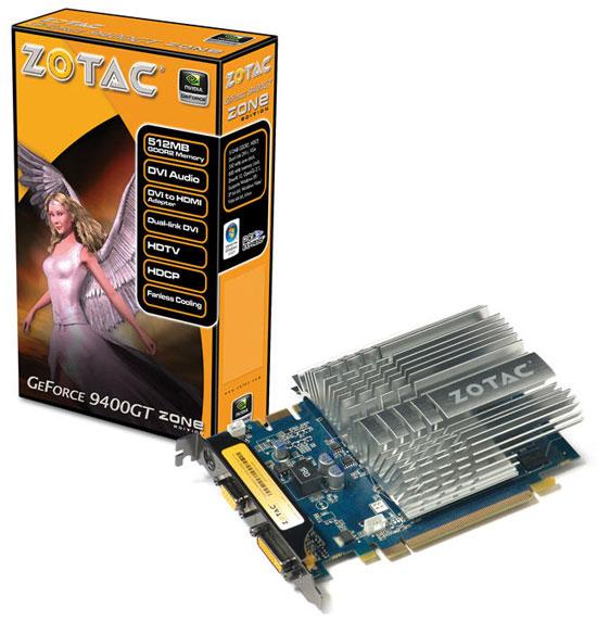Zotac GeForce 9400 GT DDR2 ZONE Edition