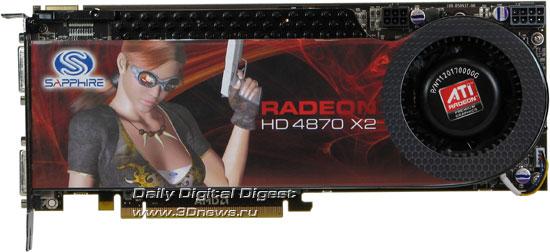 Sapphire Radeon HD 4870 X2 Вид спереди