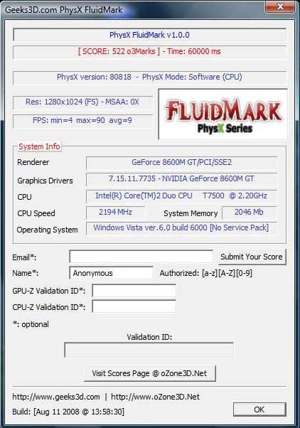 """""""PhysX Mode"""" - """"Software (CPU)"""""""
