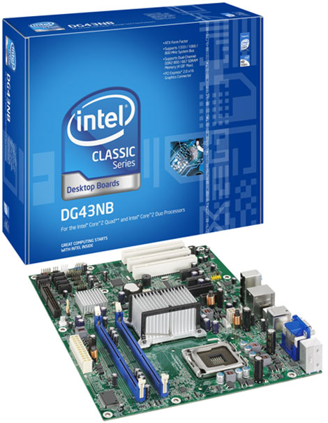 Intel Classic Series Desktop Board DG43NB
