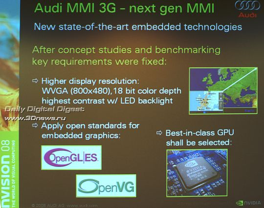 визуальный Audi MMI интерфейс нового поколения