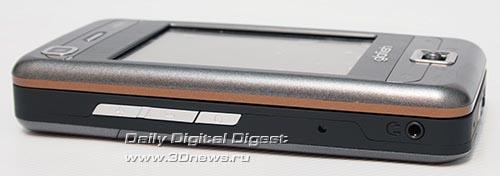 Glofiish M800. Вид слева