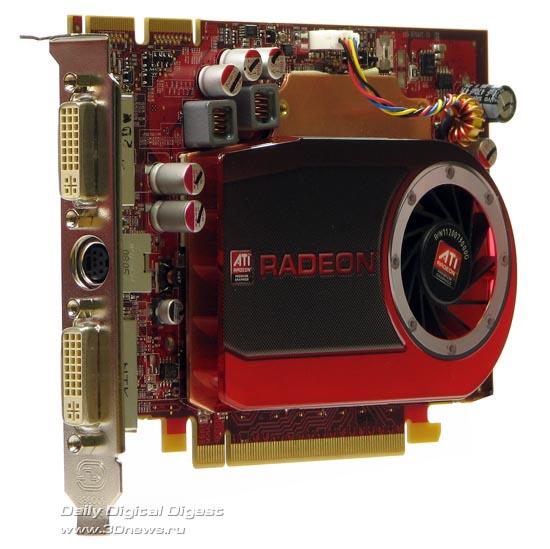 Radeon HD 4670 вид сбоку
