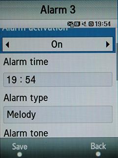 Samsung F480 Touchwiz. Будильник