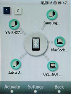 Samsung F480 Touchwiz. Настройка  Bluetooth соединений