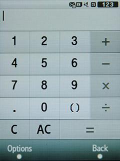 Samsung F480 Touchwiz. Калькулятор -1