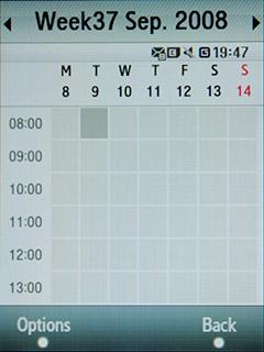 Samsung F480 Touchwiz. Календарь