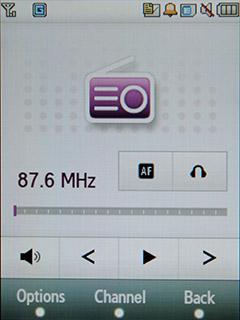 Samsung F480 Touchwiz. Программа работы с FM модулем