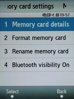 Samsung F480 Touchwiz. Операции с картой памяти