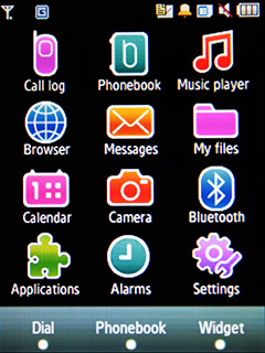 Samsung F480 Touchwiz. Главное меню