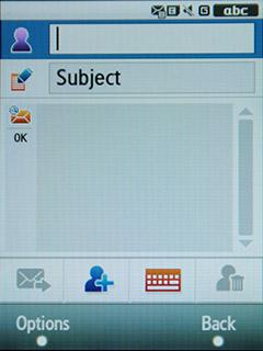 Samsung F480 Touchwiz. E-mail сообщения