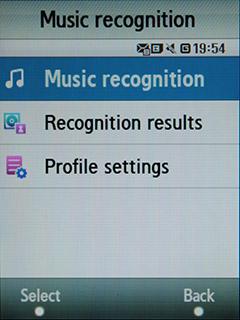 Samsung F480 Touchwiz. Music Recognition