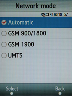Samsung F480 Touchwiz. Выбор сети