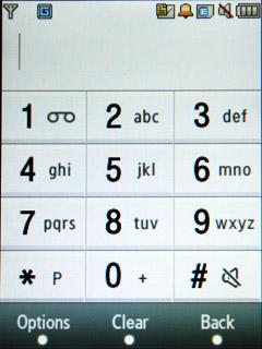 Samsung F480 Touchwiz. Окно номеронабирателя