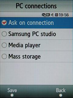 Samsung F480 Touchwiz. Режимы подключения к ПК по шине USB