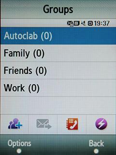 Samsung F480 Touchwiz. Группы абонентов