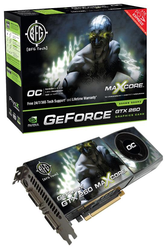 BFG NVIDIA GeForce GTX 260 OC MAXCORE