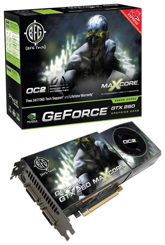 BFG NVIDIA GeForce GTX 260 OC2 MAXCORE