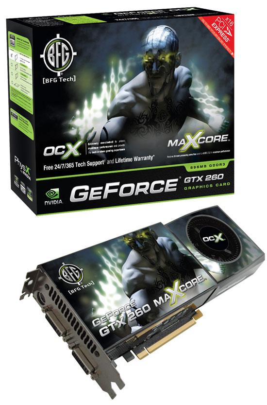 BFG NVIDIA GeForce GTX 260 OCX MAXCORE