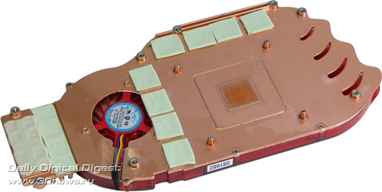 Штатная система охлаждения от MSI Radeon HD 4850