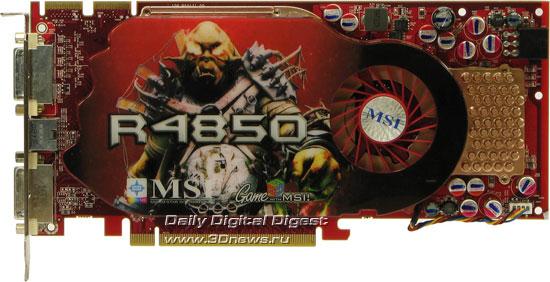 MSI Radeon HD 4850, вид спереди