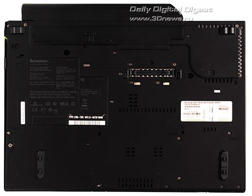 Lenovo ThinkPad T400. Вид снизу