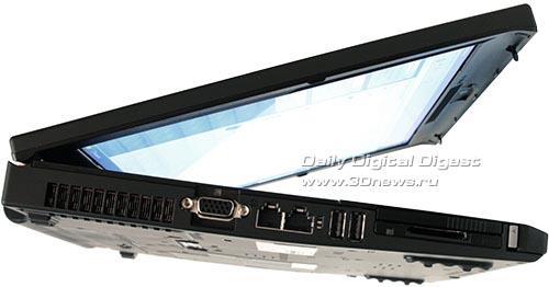 Lenovo ThinkPad T400. Вид слева