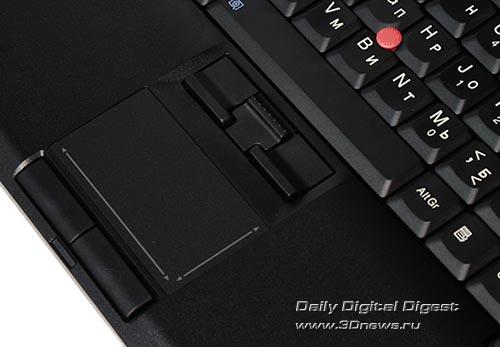 Lenovo ThinkPad T400. Сенсорная панель