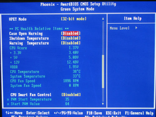 Foxconn G31MG-S, system monitoring