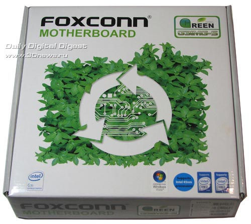 Foxconn G31MG-S in a package box
