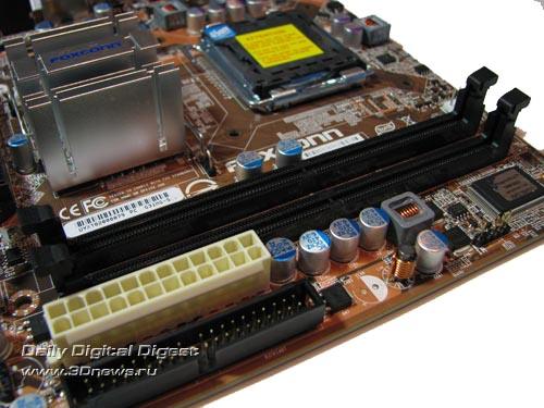 Foxconn G31MG-S, DIMM slots