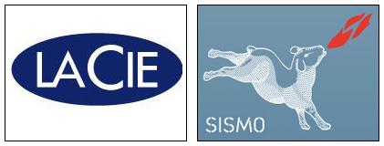 LaCie and Sismo Logos