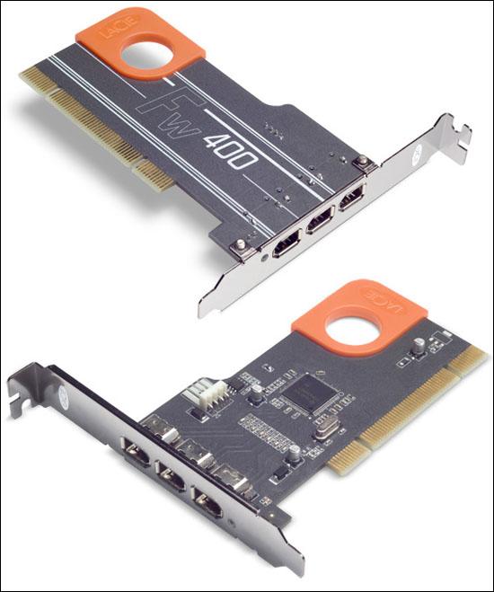 LaCie FireWire 400 PCI Card, Design by Sismo