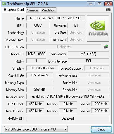NVIDIA GeForce 9300 GPU-Z