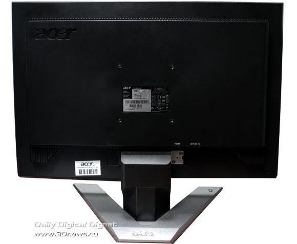 Acer P243W, вид с тыла