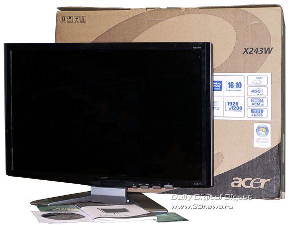 Комплектация монитора Acer P243W