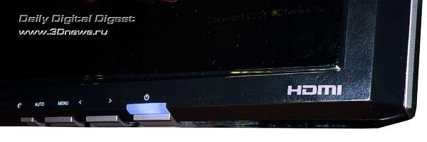 Элементы управления монитора Acer P243W