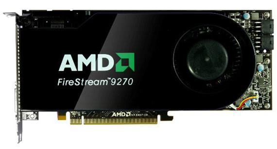 Профессиональная видеокарта Sapphire на базе AMD FireStream 9270.