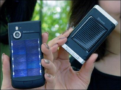 """Новости.  MWC: мобильные телефоны на солнечных батареях от LG и её  """"зеленые """" технологии."""