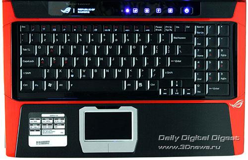 ASUS G50V. Клавиатура