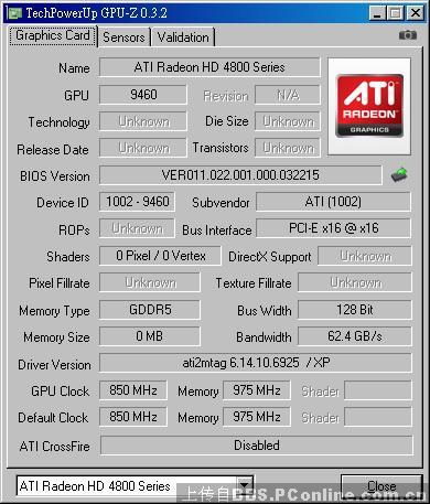 AMD Radeon HD 4890 GPU-Z